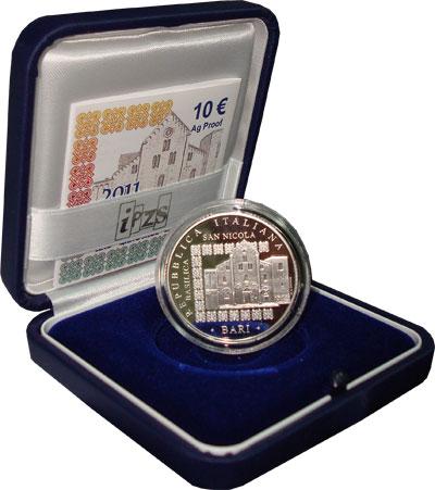 Изображение Подарочные монеты Италия Год русского языка и российской культуры в Италии 2011 Серебро Proof