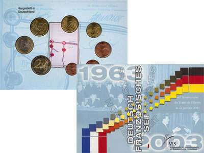 Изображение Подарочные монеты Германия Евронабор 2003 года 2003  UNC В наборе представлен