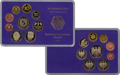 Изображение Подарочные монеты ФРГ Монеты 1989 года(чеканка Карлсруэ) 1989  UNC