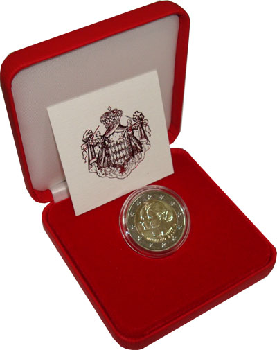 Изображение Подарочные монеты Монако Княжеская семья Монако 2011 Биметалл UNC `Подарочная монета п