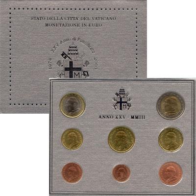 Изображение Подарочные монеты Ватикан Евронабор 2003 года выпуска 2003  UNC