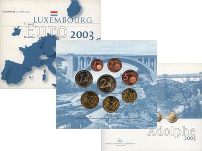 Изображение Подарочные монеты Люксембург Евронабор 2003 года выпуска 2003   Евронабор 2003 года