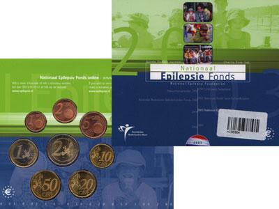 Изображение Подарочные наборы Нидерланды Евронабор 2005 года выпуска 2005  UNC <BR>Буклет голубого