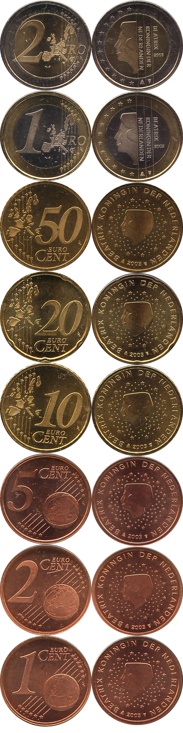 Картинка Подарочные монеты Нидерланды Евронабор 2005 года выпуска  2005