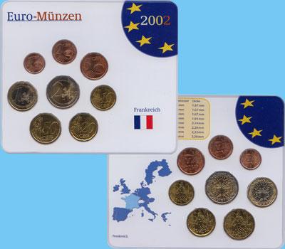 Изображение Подарочные наборы Франция Евронабор 2000-2001 гг, 2002  UNC