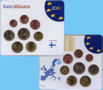 Изображение Подарочные наборы Финляндия Евронабор 1999-2001 гг, 2002  UNC