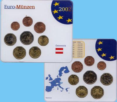 Изображение Подарочные наборы Австрия Евронабор 2002 года 2002  UNC