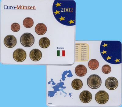 Изображение Подарочные наборы Италия Евронабор 2002 года 2002  UNC