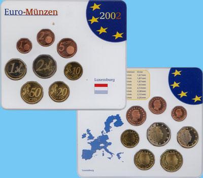 Изображение Подарочные монеты Люксембург Евронабор 2002 года 2002  UNC