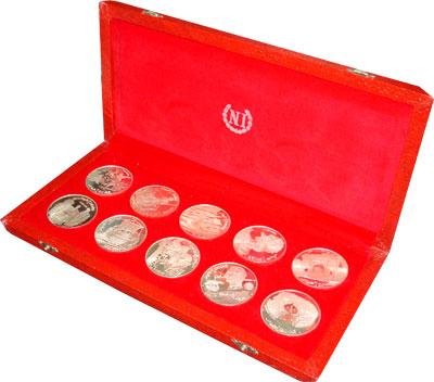 Изображение Подарочные наборы Тунис История Туниса 1969 Серебро Proof- Набор монет 1969 год
