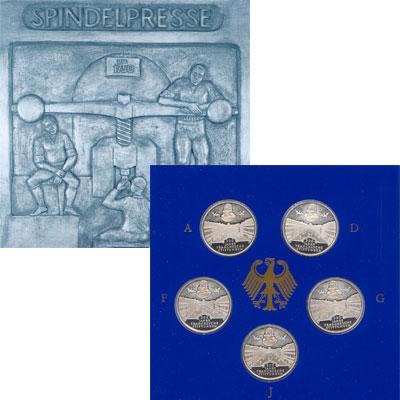 Изображение Подарочные наборы Германия 300-летие основание франка 1998 Серебро Proof