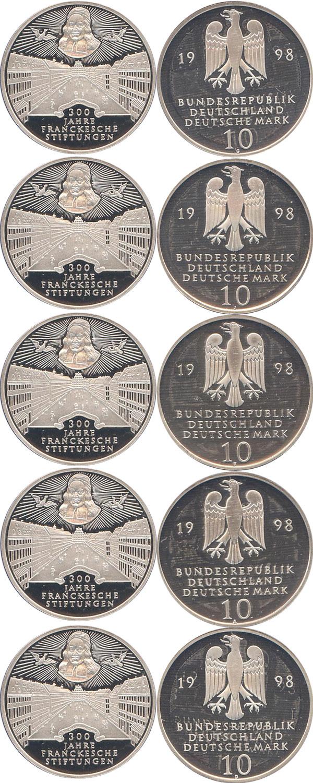 Картинка Подарочные наборы Германия 300-летие основание франка Серебро 1998