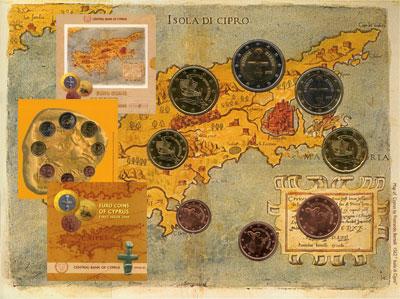 Изображение Подарочные монеты Кипр Евронабор 2008 года выпуска 2008  UNC В наборе 8 монет ном