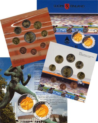 Изображение Подарочные монеты Финляндия Евронабор 2005 года выпуска 2005  UNC Евронабор 2005 года