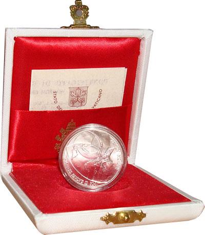 Изображение Подарочные монеты Ватикан Иоанн Павел 1992 Серебро UNC Набор посвящен жизне