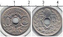 Изображение Мелочь Франция 10 сантим 1933 Медно-никель XF 1