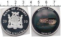 Изображение Мелочь Замбия 1000 квач 2010 Посеребрение Proof