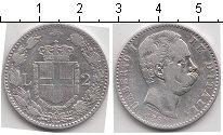 Изображение Монеты Италия 2 лиры 1884 Серебро  Умберто I