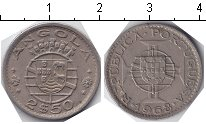Изображение Монеты Ангола 2 1/2 эскудо 1968 Медно-никель