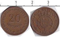 Изображение Монеты Мозамбик 20 сентавос 1961 Медь XF