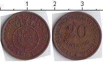 Изображение Монеты Мозамбик 20 сентавос 1961 Медь VF