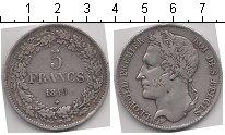 Изображение Монеты Бельгия 5 франков 1849 Серебро