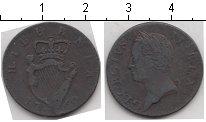 Изображение Монеты Ирландия 1 фартинг 1760 Медь VF KM#135. Георг II