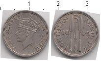 Изображение Монеты Родезия 3 пенса 1949 Медно-никель XF Георг VI