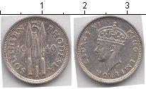 Изображение Монеты Родезия 3 пенса 1940 Серебро XF Георг VI