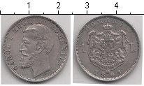 Изображение Монеты Румыния 1 лей 1894 Серебро XF Карол I