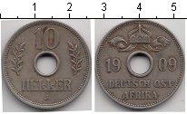 Изображение Монеты Немецкая Африка 10 хеллеров 1909 Медно-никель VF