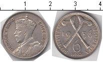 Изображение Монеты Родезия 6 пенсов 1936 Серебро XF Георг V