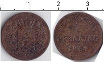 Изображение Монеты Бавария 1 пфенниг 1864 Медь