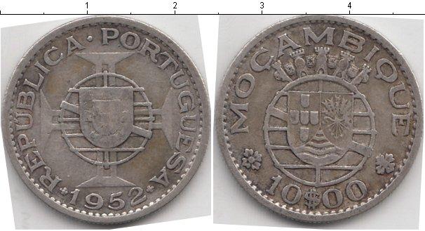 Картинка Мелочь Мозамбик 10 эскудо Серебро 1952