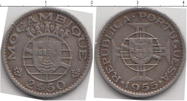 Картинка Монеты Мозамбик 2 1/2 эскудо Медно-никель 1955