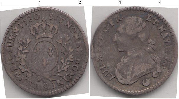 Картинка Монеты Франция 1/10 экю Серебро 1780