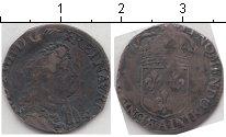 Изображение Монеты Франция 1/12 экю 0 Серебро VF Людовик XIV