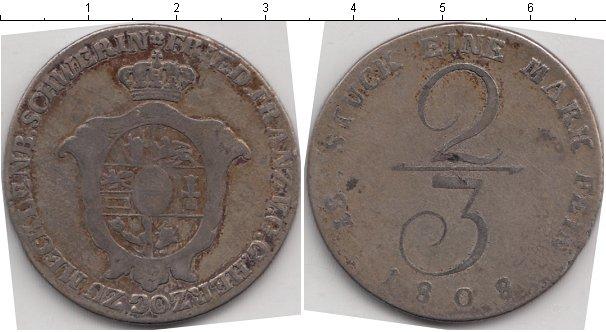 Картинка Монеты Мекленбург-Шверин 2/3 талера Серебро 1808