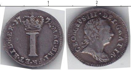 Картинка Монеты Великобритания 1 пенни Серебро 1772