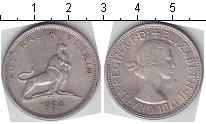 Изображение Мелочь Австралия 1 флорин 1954 Серебро XF+ Королева Елизавета I