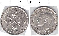 Изображение Мелочь Австралия 1 флорин 1951 Серебро XF Георг VI
