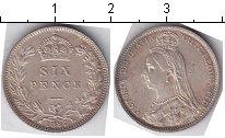 Изображение Монеты Великобритания 6 пенсов 1887 Серебро XF Виктория