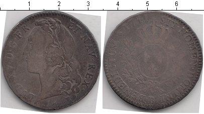 Картинка Монеты Франция 1 экю Серебро 1711