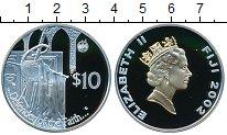 Изображение Монеты Фиджи 10 долларов 2002 Серебро Proof- Елизавета II