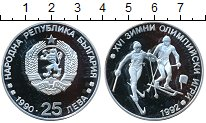 Изображение Монеты Болгария 25 лев 1990 Серебро Proof- XVI олимпийские игры