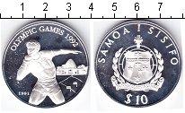 Изображение Монеты Самоа 10 долларов 1991 Серебро Proof- Олимпийские игры 199