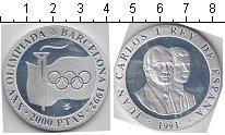 Изображение Монеты Испания 2000 песет 1991 Серебро Proof-