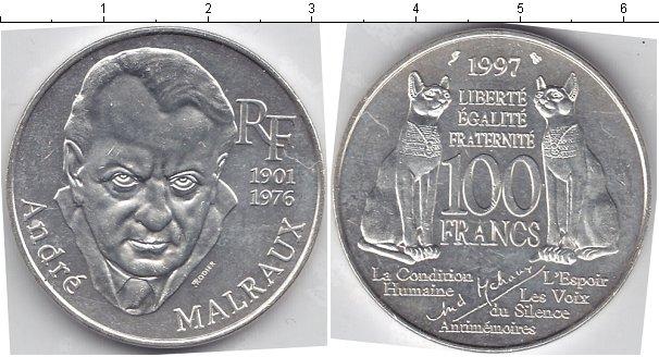 Картинка Монеты Франция 100 франков Серебро 1976