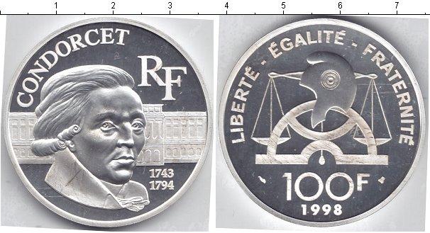 Картинка Монеты Франция 100 франков Серебро 1998