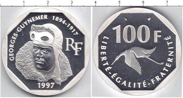 Картинка Монеты Франция 100 франков Серебро 1997